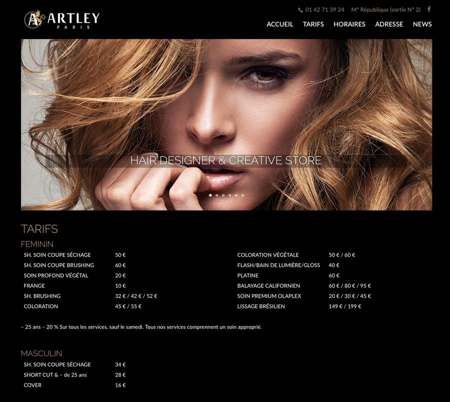 Site internet Artley.fr