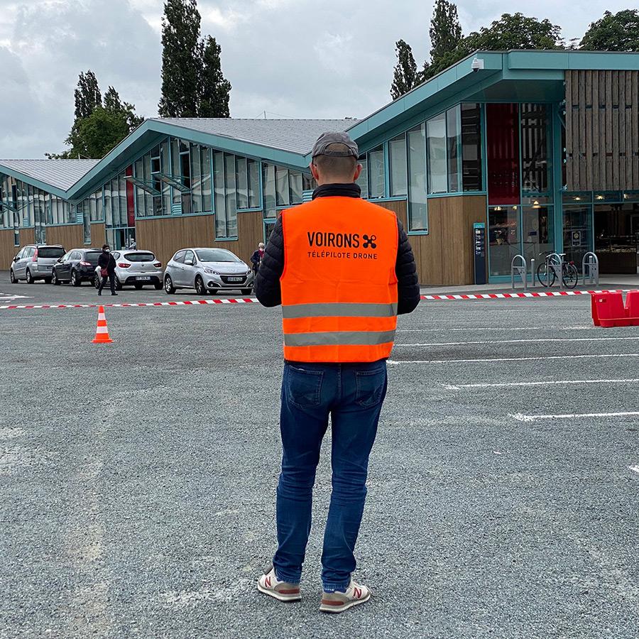 Voirons, télépilote drone - Halles de Cholet