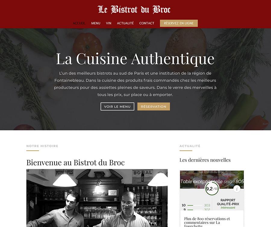 création du site internet lebistrotdubroc.com